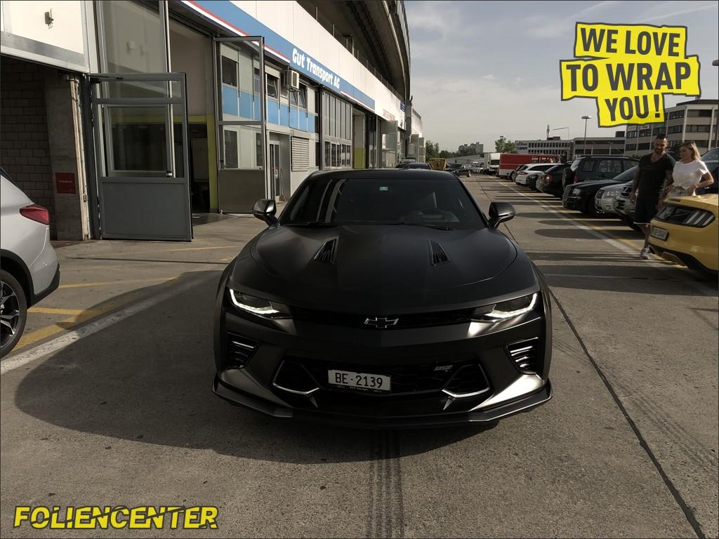 Chevrolet Camaro SS schwarz satin