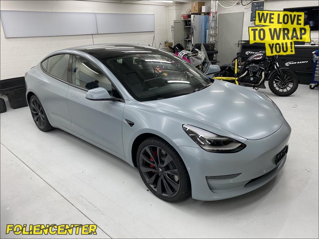 Tesla Model 3 Battleship-Grey